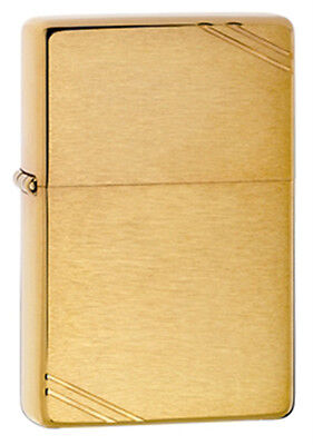 Zippo Vintage Brushed Finish Brass Lighter - Full Size 240 Genuine