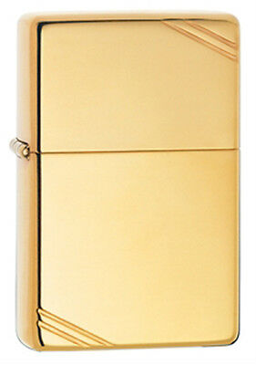 Zippo Vintage High-Polished Brass Lighter - 270 1937 Series w/ Slashes
