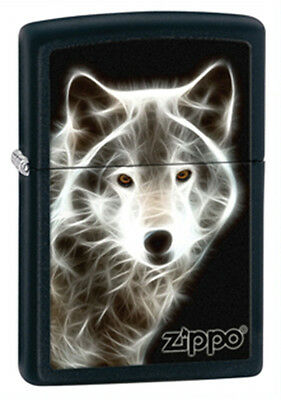 Zippo Wolf Black Matte Lighter - 28001 Genuine