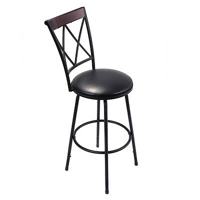 Prime New Swivel Bar Stool Pu Leather Steel Counter Height Modern Caraccident5 Cool Chair Designs And Ideas Caraccident5Info