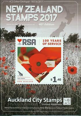 """New Zealand Stamp Catalogue by ACS, 2017. """"HOT OFF THE PRESS""""."""