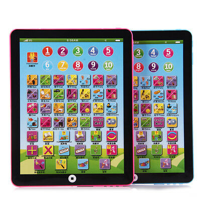 Baby Kids Children English Learning Pad Toy Educational Computer Tablet Gifts