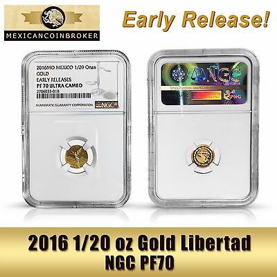 2016 1/20oz Gold Libertad Proof  *Treasure Coin of Mexico™* NGC PF70