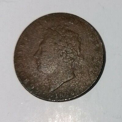 1826 George IV Great Britain Half Penny old antique copper coin