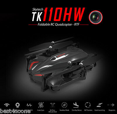 Skytech TK110HW RC Drone Quadcopter RTF WiFi FPV Headless Mode 0.3MP CAM BLACK
