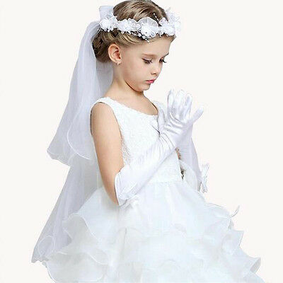 1 Pair Fashion Bowknot Princess Dress Gloves Girls Long Gloves Party Accessories