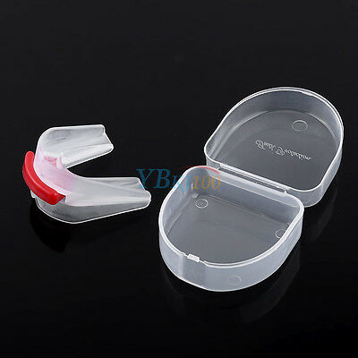 Silicone Adult Mouthguard Mouth Guard Oral Grinding Teeth Protect For Boxing Red