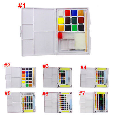 12/18/24/30/36/48 colors Watercolor Solid Petit Painting Outdoors Art Tools Gift