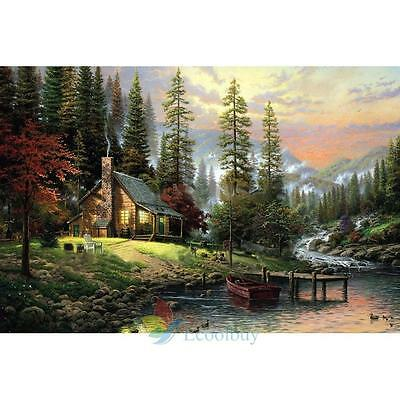 DIY Paint By Number Kit Oil Painting On Canvas Rural Landscape Home Decor A