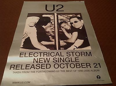 U2 -Electrical Storm- Rare Official Record Co. Promo Poster