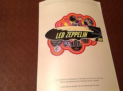 Led Zeppelin Rare Official Record Co.double-Sided  Promo Poster