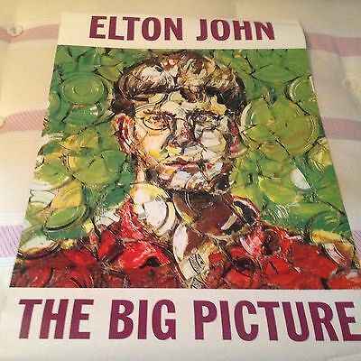 Elton John -The Big Picture- Rare Double-Sided Official Record Co. Promo Poster