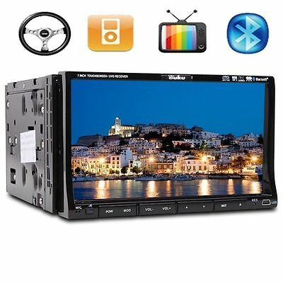 "7"" Samsung Lens Double 2Din Car Stereo Radio DVD Player iPod BT Ipod TV MP3"