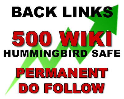 500 Wiki Article Contextual High TF Authority Manual SEO BACKLINKS building
