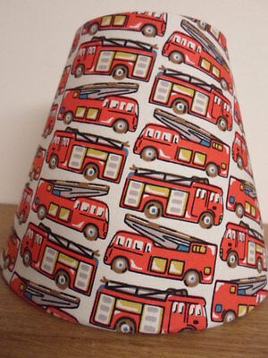 "6.5"" wide 6"" tall TAPERED LAMPSHADE in CATH KIDSTON FIRE ENGINE RED"