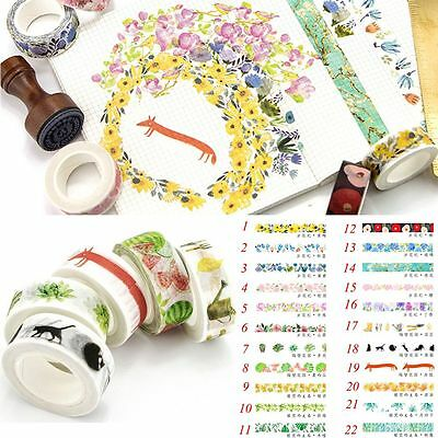 Decor Self Adhesive Washi Sticker Crafts Roll Paper Masking Adhesive Tape