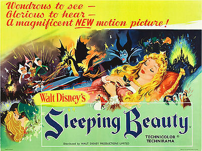 "Sleeping Beauty 1959 16"" x 12"" Reproduction Movie Poster Photograph"