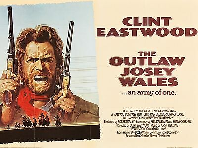 """The Outlaw Josie Wales 16"""" x 12"""" Reproduction Movie Poster Photograph"""