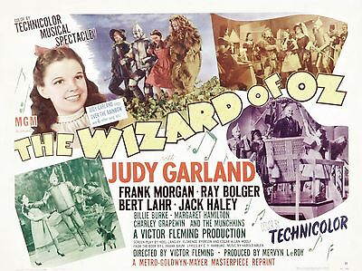 "The Wizard of Oz 1939 16"" x 12"" Reproduction Movie Poster Photograph 2"