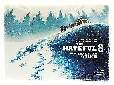 """The Hateful Eight 16"""" x 12"""" Reproduction Movie Poster Photograph"""