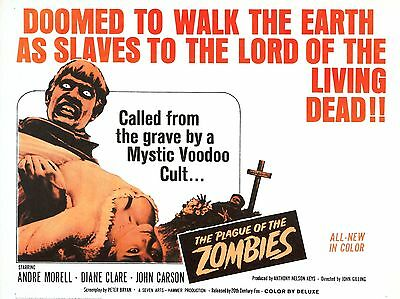 """The plague of zombies 16"""" x 12"""" Reproduction Movie Poster Photograph"""