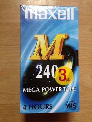 Video VHS Tapes New Maxell