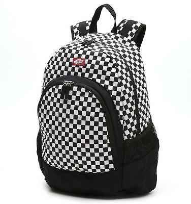 VANS Van Doren Skate School BMX Backpack Ruscksack Black/White Check Vans BNWT
