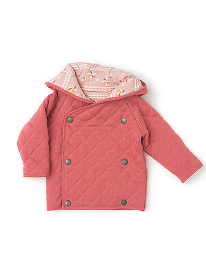 Little Green Radical Reversible quilted Jacket - sunset pink 0 3 6 9