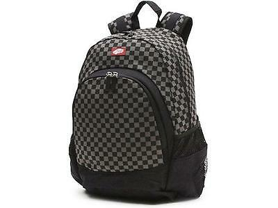 Vans Van Doren Skate BMX School Backpack Rucksack Black/Charcoal Check BNWT