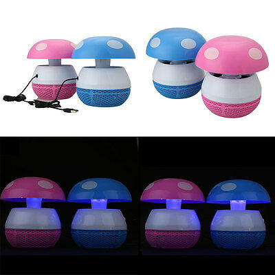 LED Lamp Electronic Muted Intake Mosquito Fly Insect Control Trap Killer