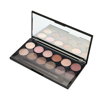 Professional 12 Colors Eye Shadow Powder Smooth Palette Natural Charms
