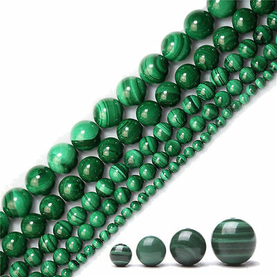 Natural Malachite Stone Gemstone Round Spacer Loose Beads Jewellery 4/6/8/10MM