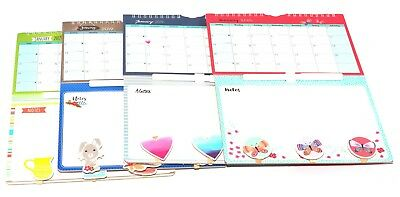 1x 2019 Hanging Wiro Mini Memo Calendar Family Organiser With Pen and Pegs