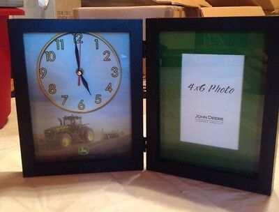John Deere Picture Frame with Clock