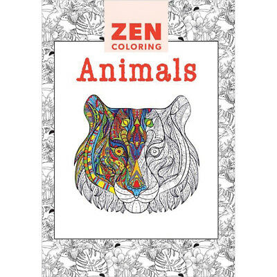 Guild Of Master Craftsman Books Zen Coloring Animals GU-41130