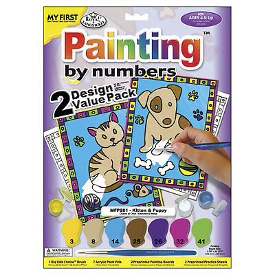 """My First Paint By Number Kit 8.75""""X11.375"""" 2/Pkg Kitten & Puppy MFP2-01"""