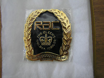 Rare 2002 RAC Limited Edition (1000 only) Golden Jubilee Car Badge