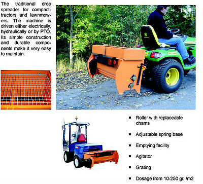 Hydromann 120EL electric drop salt and sand spreader-less hitch