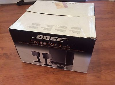 Bose Companion 3 SERIES II Multimedia Computer Speakers System Set Bose Sound