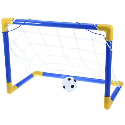 Mini Football Soccer Goal Post Net Set with Pump Kids Sport Indoor Outdoor Toys