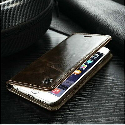 Luxury Flip Leather Magnetic Case Wallet Cover For Apple iPhone 6 6s Plus SE 5 4