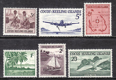 1963 Cocos Islands Set/6 #1-6, F-Vf, Mint Never Hinged