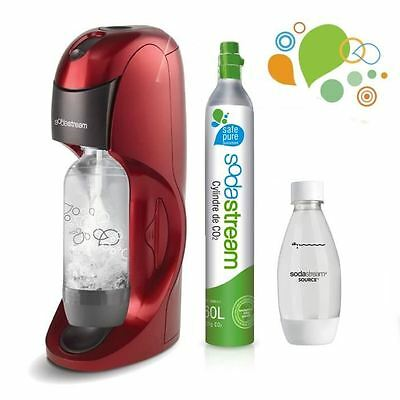 SODASTREAM - Méga Pack Machine a soda Dynamo Rouge Plus +  1 bouteille 0,5L Fuse
