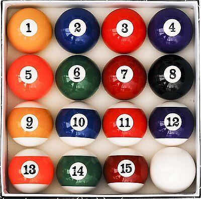 Pool Table Billiard Ball Set, Art Number Style Reg Size and Weight Free Shipping
