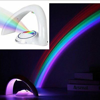 WNOSH Rainbow Projector LED Lamp Night Light Reflection Rainbow in My Room Wall