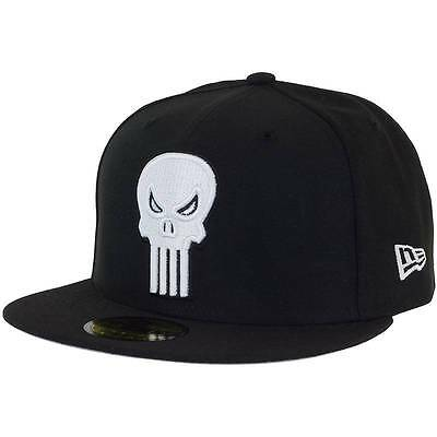 Punisher Character Badge 59Fifty Baseball Cap By New Era Black Size 7 1/8
