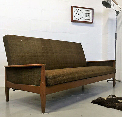 Quality Vintage Retro Mid Century Day Bed Sofa Bed