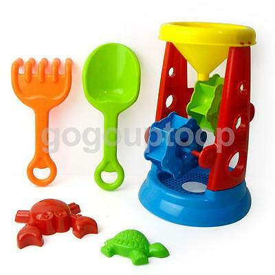 Set of Kids Beach Garden Sand Water Playing Tool Windmill with Shovel Toy