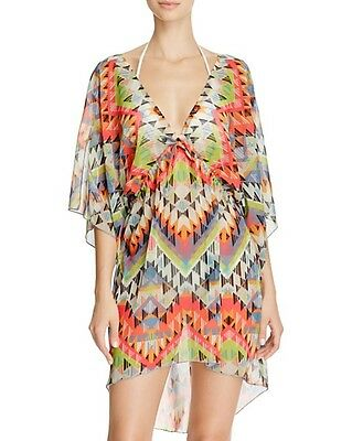ad0c0aa34d844 BECCA BY REBECCA Virtue Women s Shoreline Tunic Poncho Swim Cover Up ...