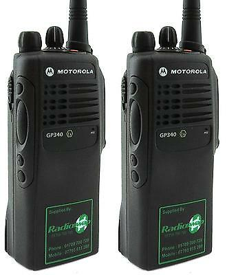 MOTOROLA GP340 VHF ATEX EX INTRINSICALLY SAFE WALKIE-TALKIE TWO WAY RADIOS x 2